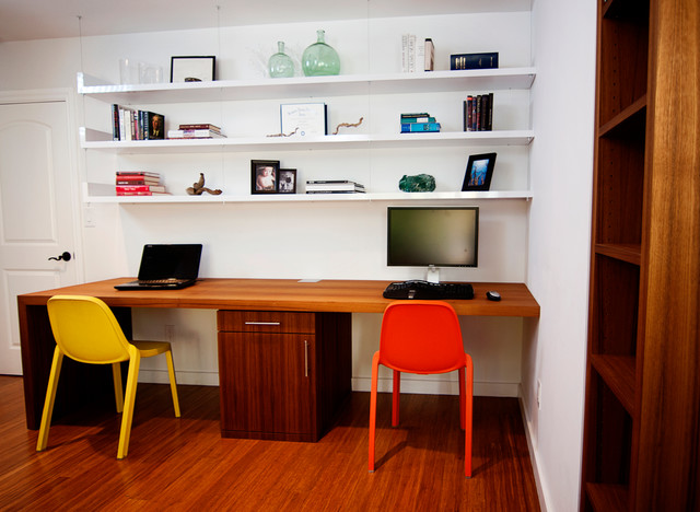 office desk with shelves. plain with teak waterfall desk u0026 floating shelves suite contemporaryhomeoffice andlibrary on office with d