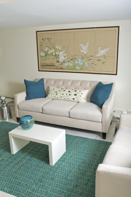 Teal Blue Home Office Design Contemporary