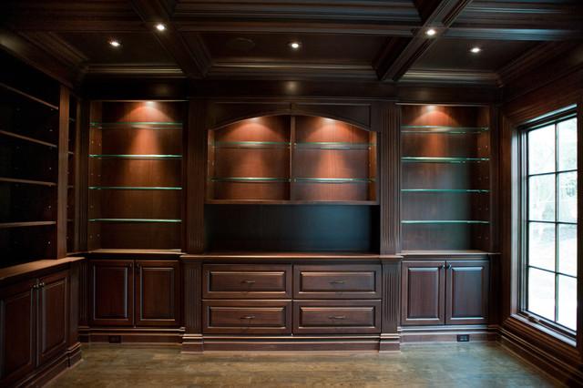 Tenafly NJ Custom Estate traditional-home-office