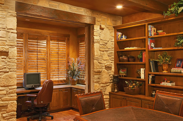 Texas Hill Country Style Rustic Home Office Austin By Refined Interiors Llc