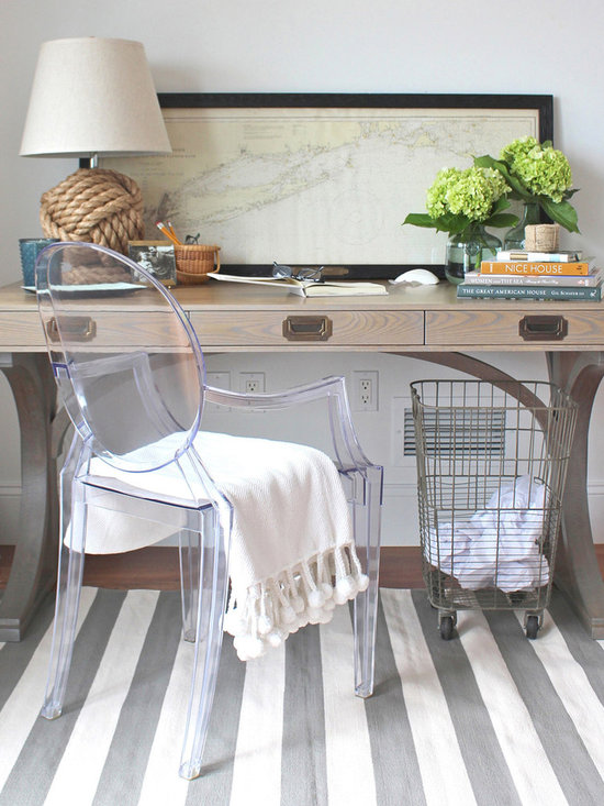 The Gates Desk - The Gates Desk, designed in collaboration with interior designer Erin Gates, is crafted of solid white oak with a whitewashed finish. A gorgeous and practical design for any home. Customizations available, just ask! Photo by Erin Gates