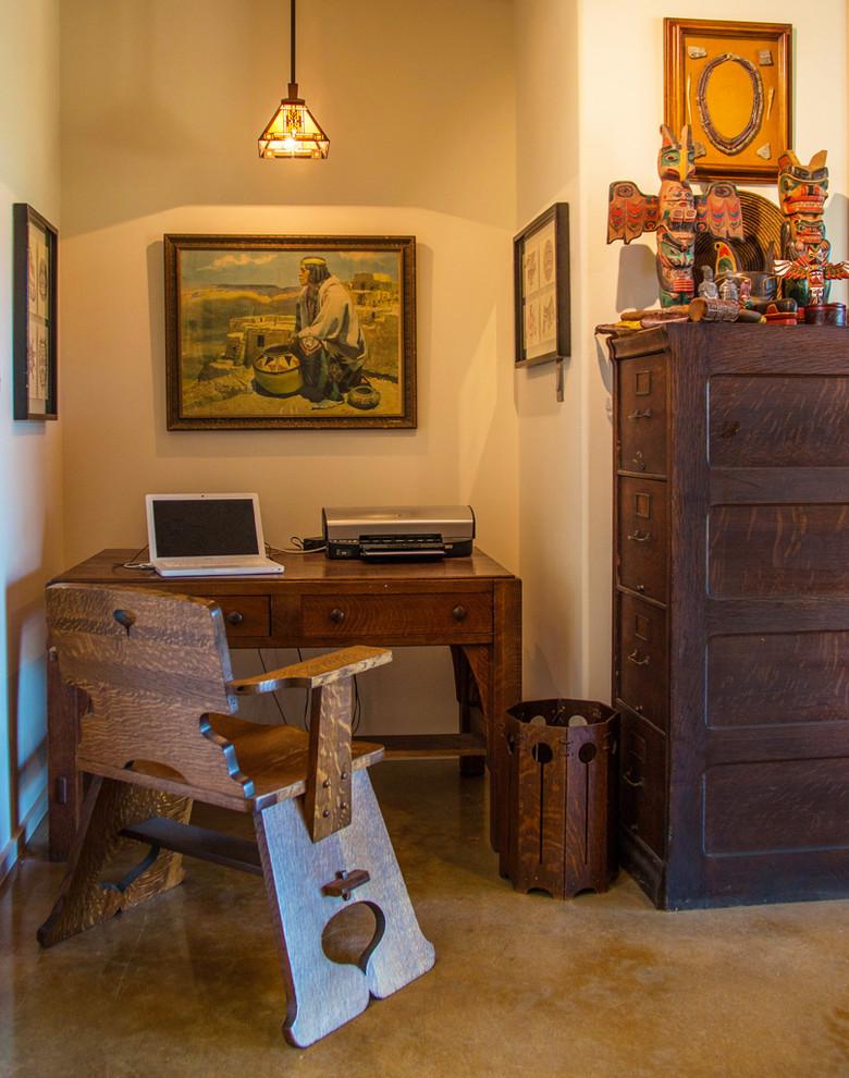 Elegant home office photo in Austin