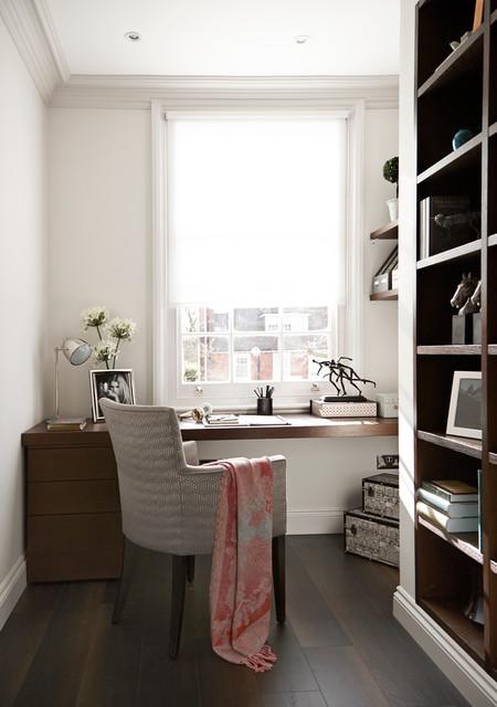 The Hampstead Apartment コンテンポラリー-書斎ホームオフィス