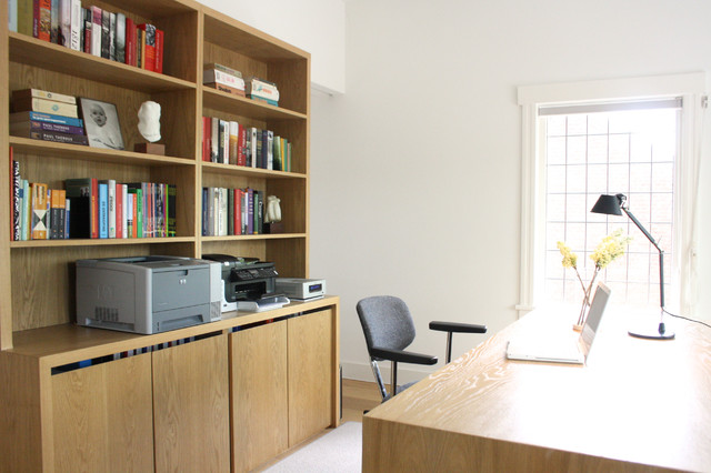 Contemporary Home Office by Holly Marder