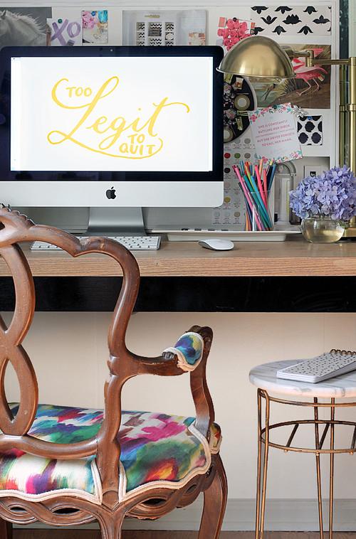 【Houzz】ホームオフィスを使いやすく整理する9の秘訣 14番目の画像