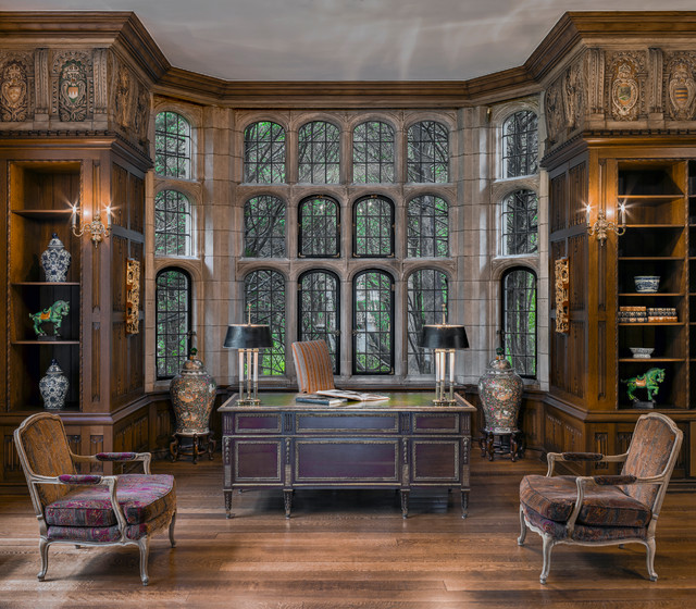 The Schweppe Mansion Traditional Home Office Chicago