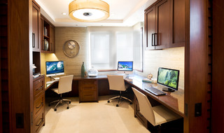 U-shape home office layout