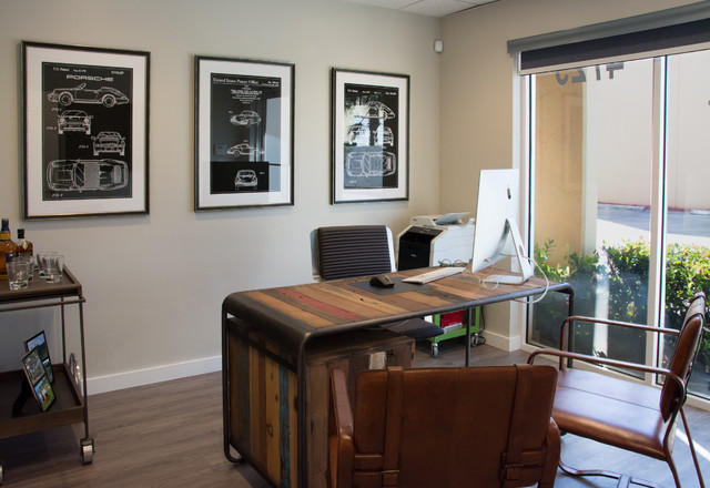 The Ultimate Man Cave Industrial Home Office Miami