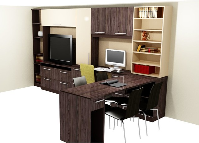 THE WOODLANDS MEDIA CENTER contemporary-home-office