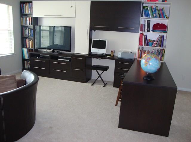 THE WOODLANDS MEDIA CENTER contemporary-home-office