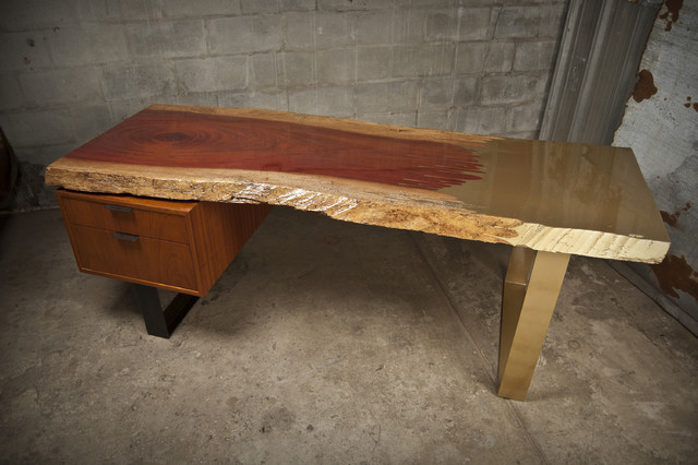 The Woodrich Desk Contemporary Home Office Tampa