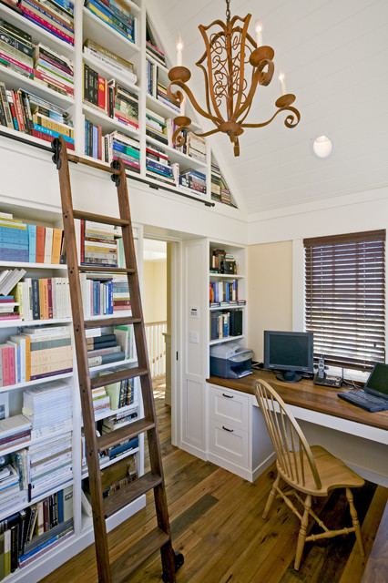 Tiburon Residence traditional home office