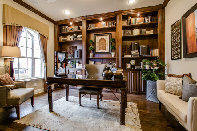 Toll brothers traditional home office dallas by je for Office design group inc