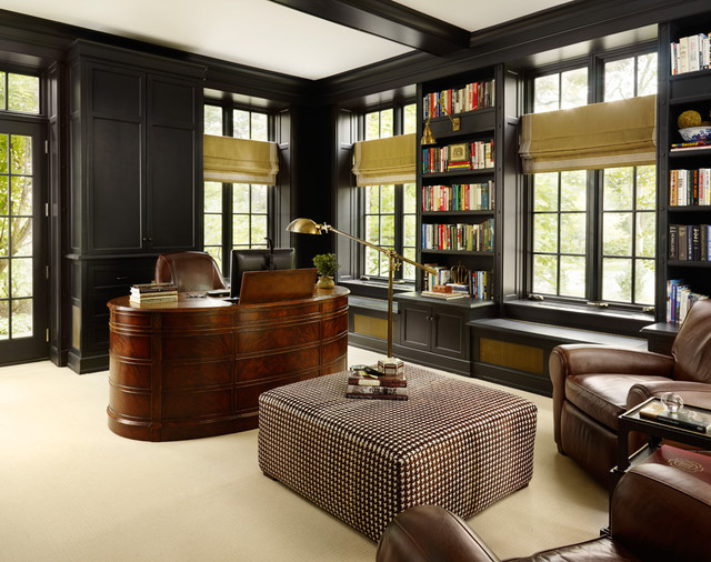 Traditional addition traditional home office chicago for Home office additions