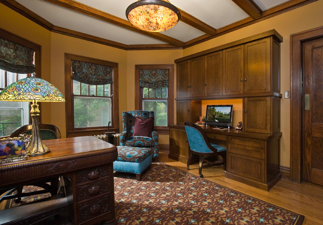 traditional home office contemporary home office chicago by