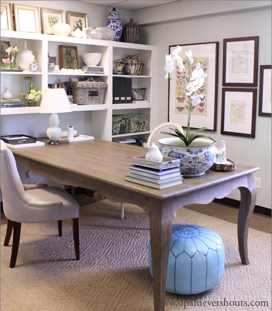 traditional home office. Black Bedroom Furniture Sets. Home Design Ideas