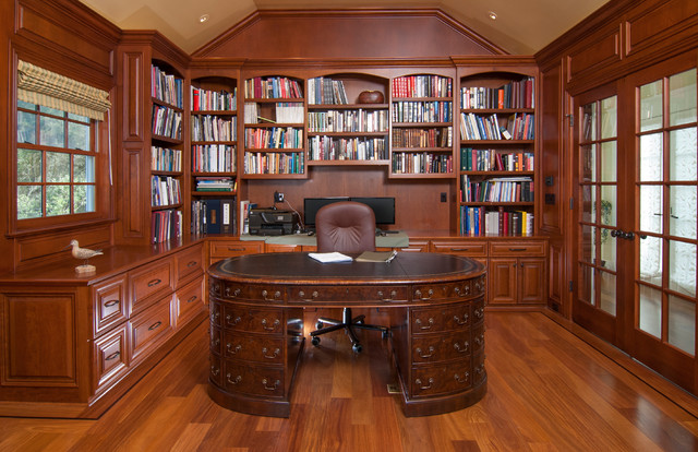 #76 - CEO Construction - Woodside traditional-home-office