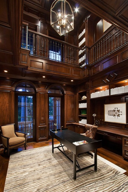 private home naples florida traditional home office