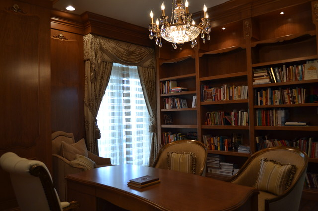 Traditional Library Traditional Home Office Miami By True To Form Design