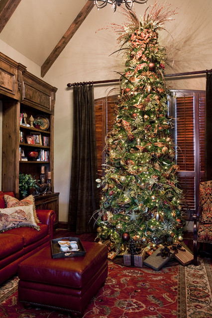 Traditional Study Christmas - Traditional - Home Office - Austin - by Dawn  Hearn Interior Design
