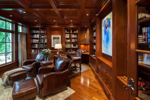 Traditional style home traditional home office toronto by makow associates architect inc - Traditional home office design ...