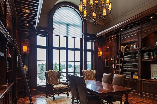 Traditional Tudor Style Home with French Interiors traditional-home-office