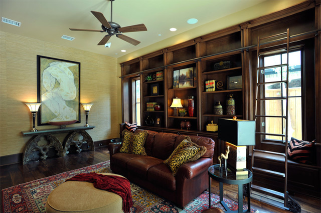 Transitional Traditional Interior Design Varachary transitional-home-office