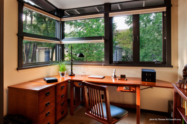 Tree House Office Midcentury Home Office