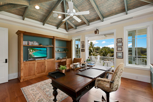 West Indies House Design Tropical Home Office Miami