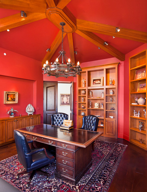 Tucson House Traditional Home Office