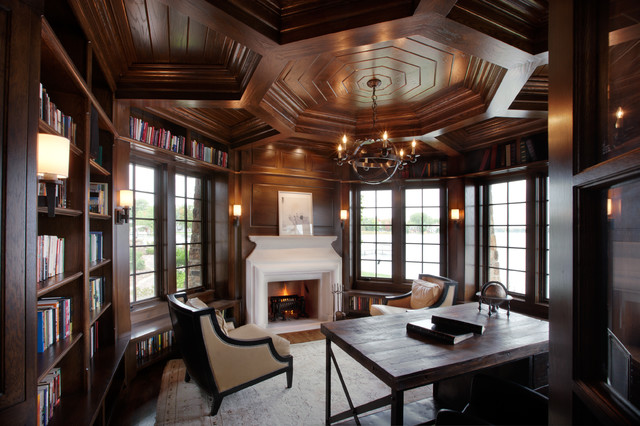 Tudor on the Point traditional-home-office