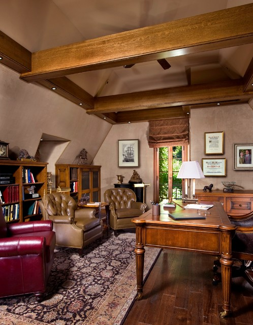 tudor revival traditional home office other metro
