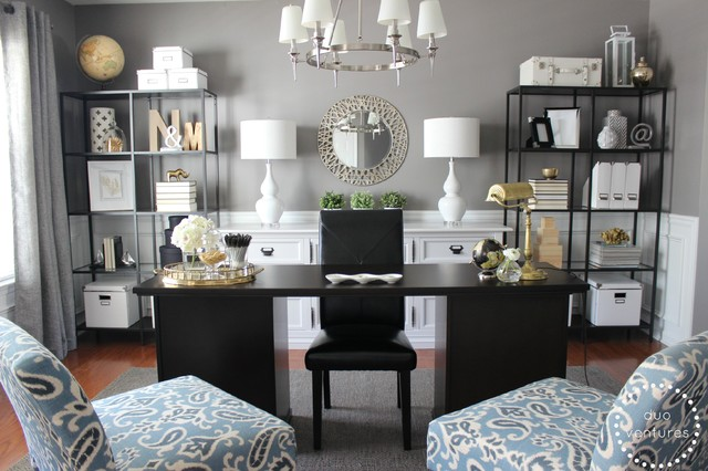 Turning A Dining Room Into A Home Office Traditional