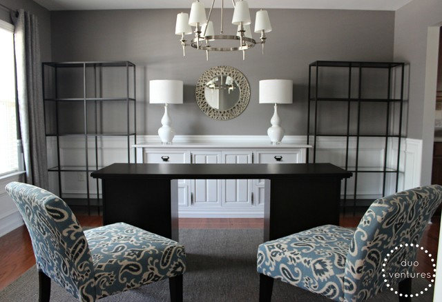 Turning a Dining Room into a Home Office Contemporary  : contemporary home office from www.houzz.com size 640 x 438 jpeg 70kB