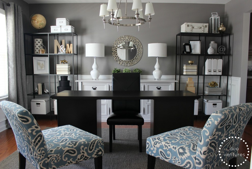 Inspiration for a contemporary home office remodel in Atlanta