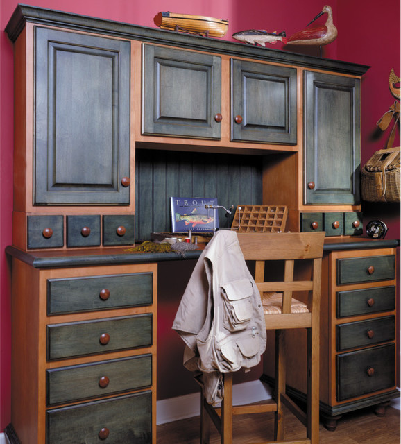two tone bathroom cabinets two tone desk traditional home office philadelphia 21072 | traditional home office