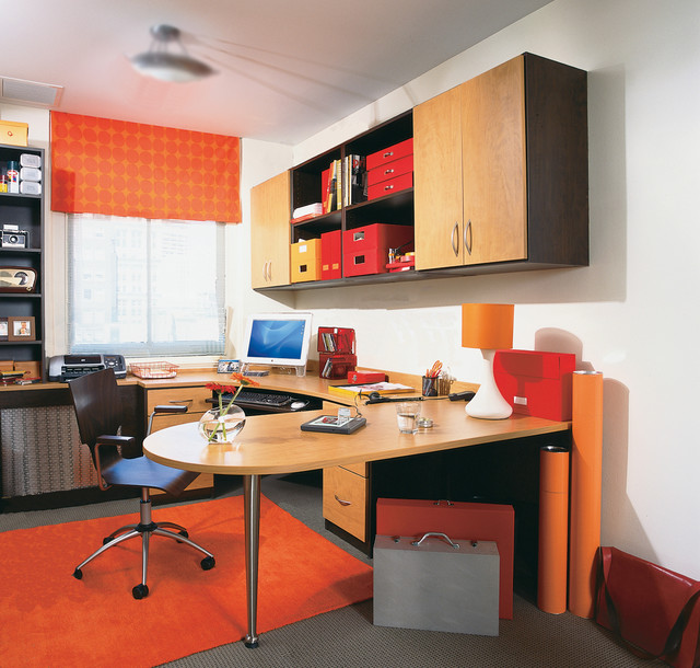 Two-Tone Office - Contemporary - Home Office - new york - by transFORM