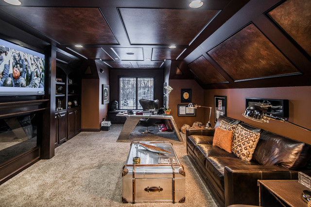 Ultimate Man Cave Furniture : Ultimate man cave eclectic home office columbus by