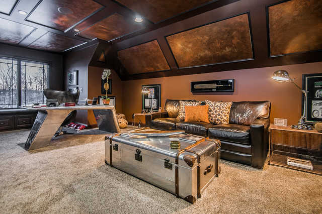 ultimate man cave eclectic home office columbus by. Black Bedroom Furniture Sets. Home Design Ideas