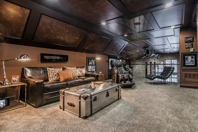 Ultimate Man Cave Eclectic Home Office Columbus By Romanelli amp Hughes Custom Builders
