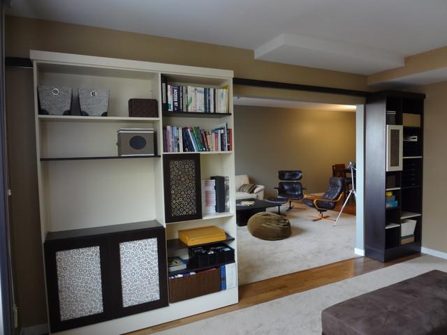 Unique Storage Solutions Eclectic Home Office Denver