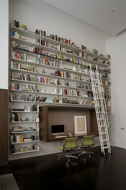 Upper East Side Carriage House contemporary-home-office