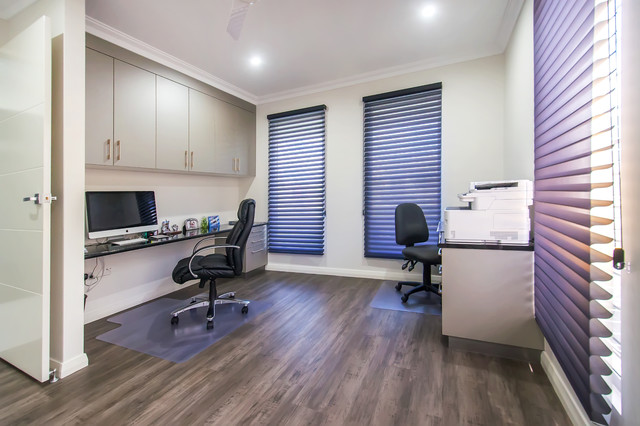 Urbane abode new home contemporary home office for Home office design ltd