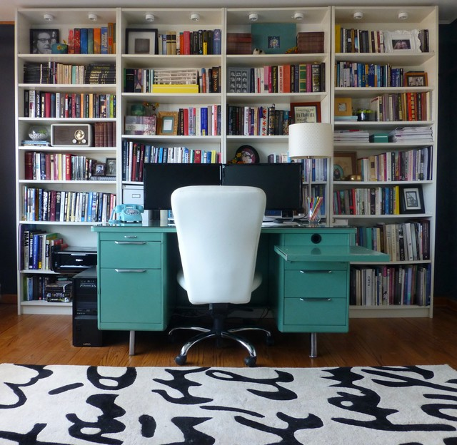 Urban office on a budget modern home office chicago for Office design on a budget