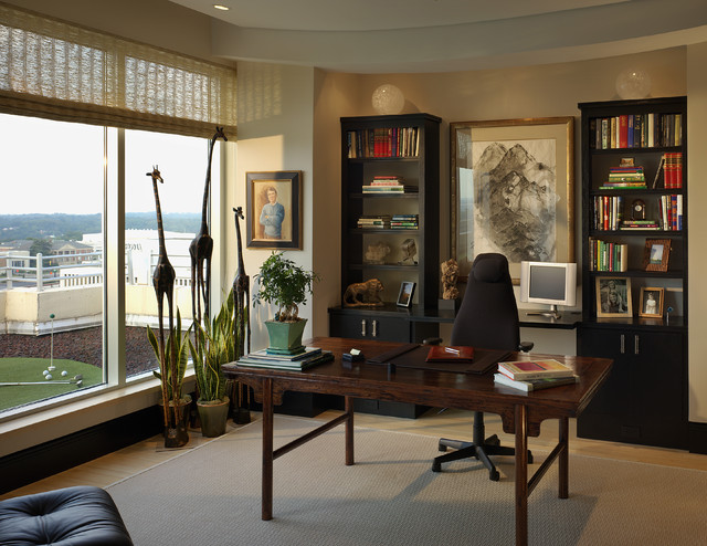 urban penthouse study modern home office atlanta