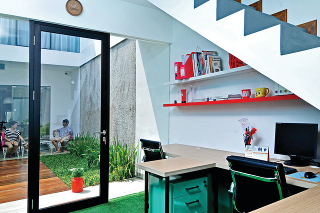 Urban Pop House Contemporary Home Office