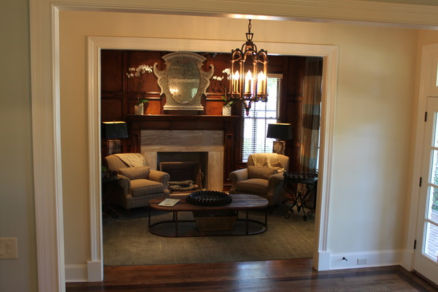 Inspiration for a timeless home office remodel in Other