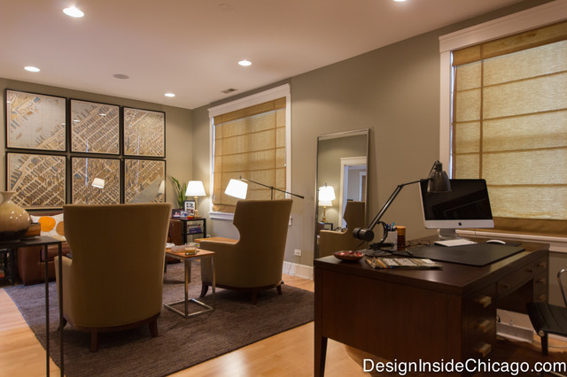 View Of Seating Office Seating Area From Rosewood Desk Contemporary Home  Office