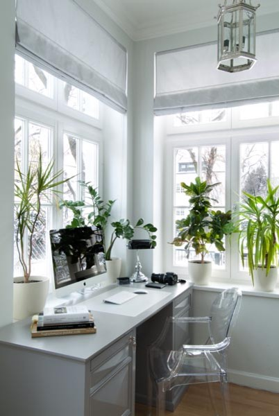 VILLA IN WARSAW (POLAND) by MAJA KRAJEWSKA owner of SQUARE SPACE traditional-home-office