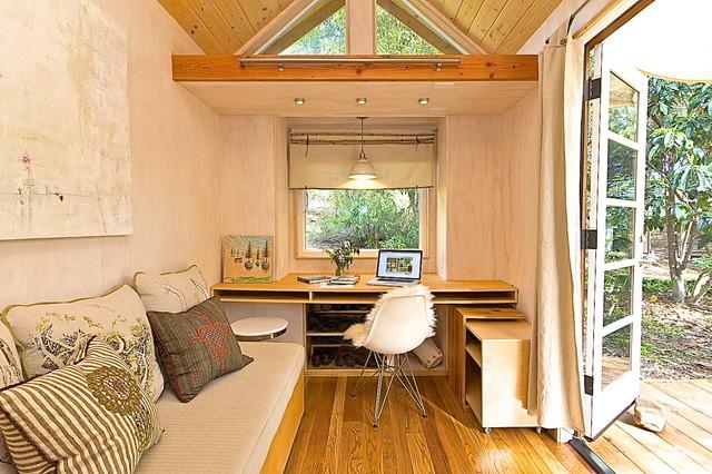 Vina's Tiny House contemporary-living-room